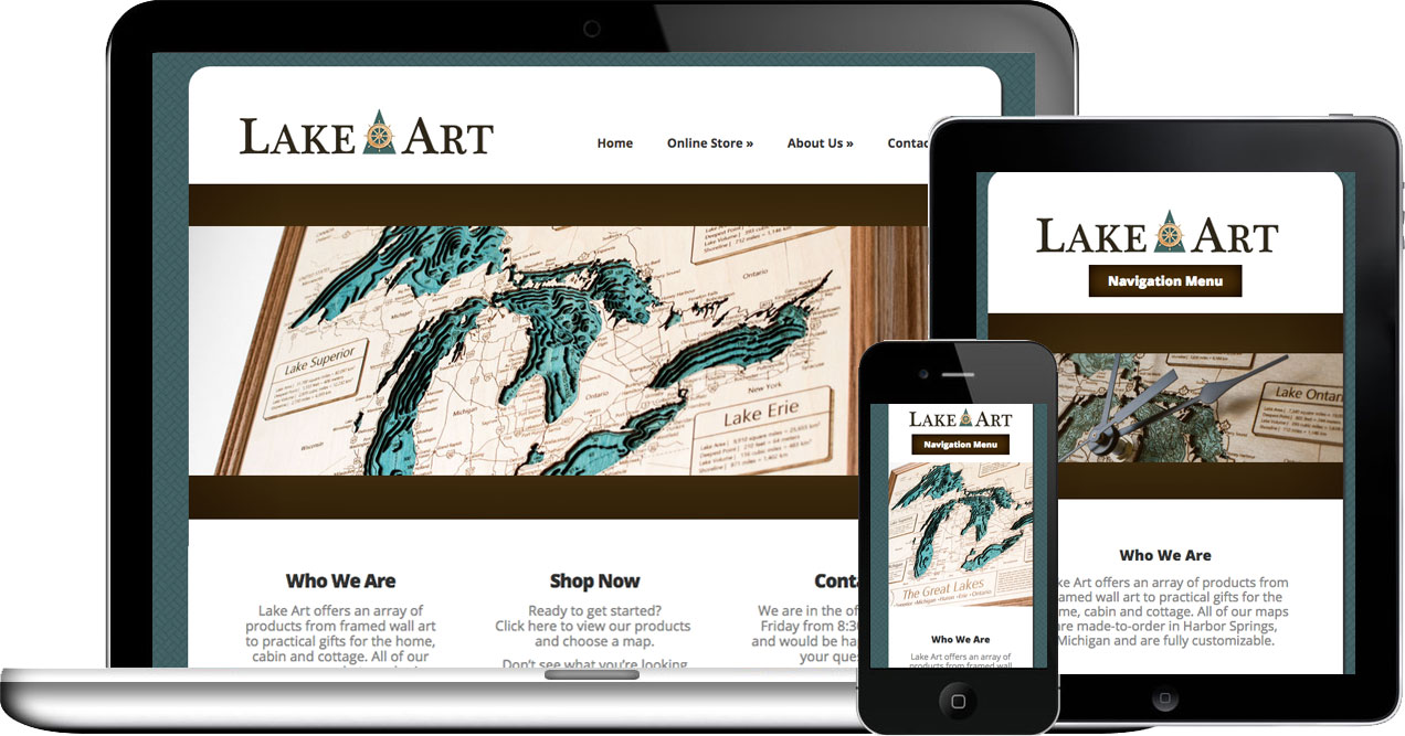 lake art wordpress website