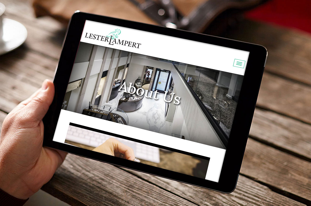 lester lampert wordpress website tablet