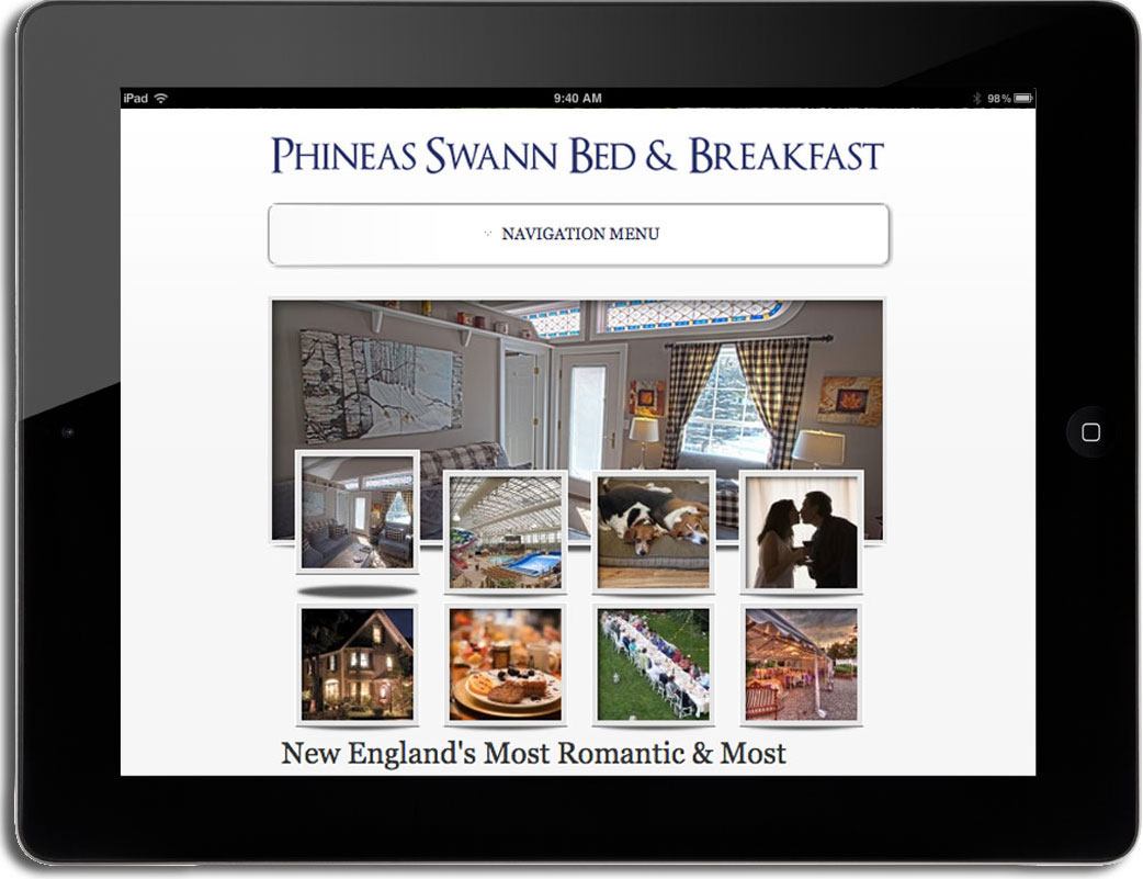 phineas swann wordpress website tablet